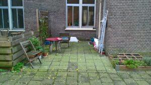 De tuin voor de aanleg